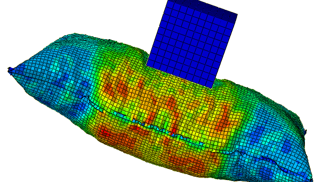 Cube on inflatable bag: FEA using abaqus | Learn 'n' Share